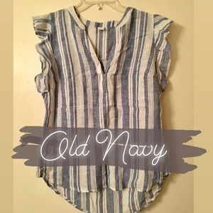 Old Navy Blue and White Sleveless Top - NWT